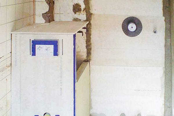Bad und WC Rohbau