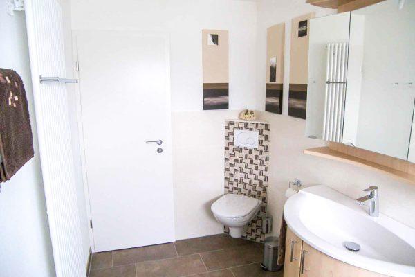 WC mit Unterputz-Spülkasten