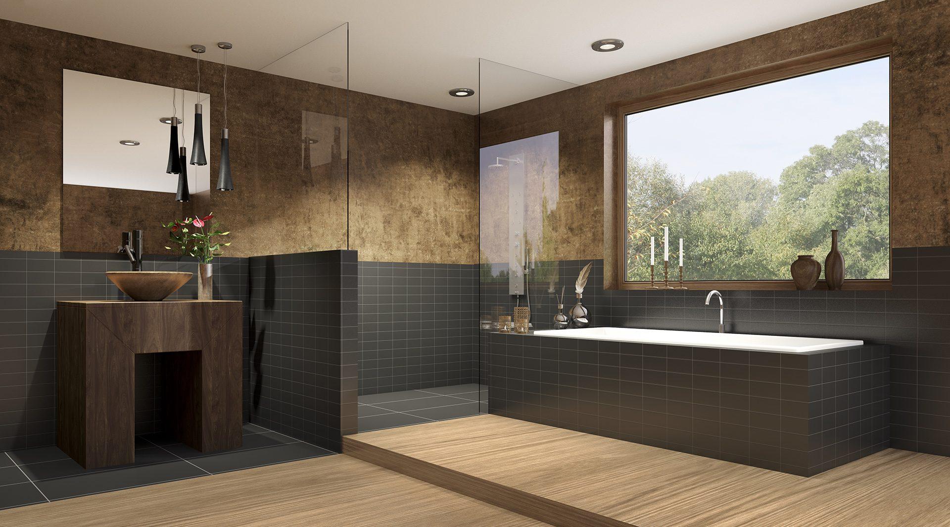 Dusche und Wanne auf engstem Raum